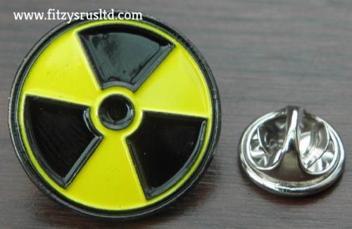 Radiation Symbol Lapel Hat Cap Tie Pin Badge WMD Radioactive Nuclear Brooch